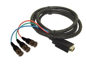 - Calrad 55-873-BNC-6 RGB Video Cable w- HD15 Male to 3 BNC Males 6ft