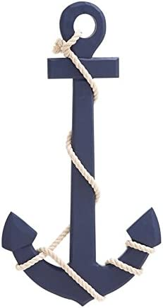 Deco 79 78762 Wood Rope Wall Anchor Home D cor Product