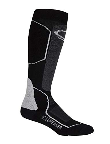 Icebreaker Merino Men's Ski+id OTC Socks (Black/Oil/Silver, Large)