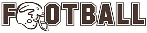 Football with Helmet Inch Inch Chocolate Brown Wall Decals Decor Vinyl Sticker SK15986 -