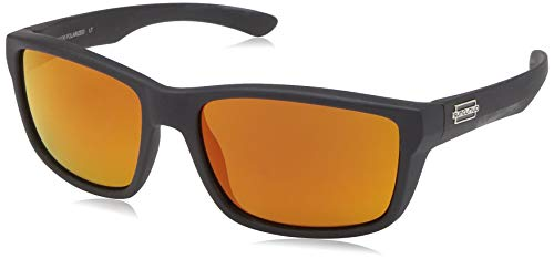 - Suncloud Mayor Polarized Sunglass with Polycarbonate Lens, Matte Black Frame/Red Mirror