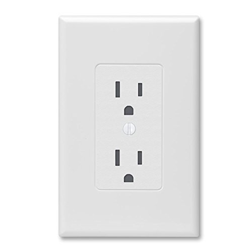Hubbell Taymac - (10 Pack) 2600W Masque Revive 1 Gang Duplex Cover Up Wall Plate - White