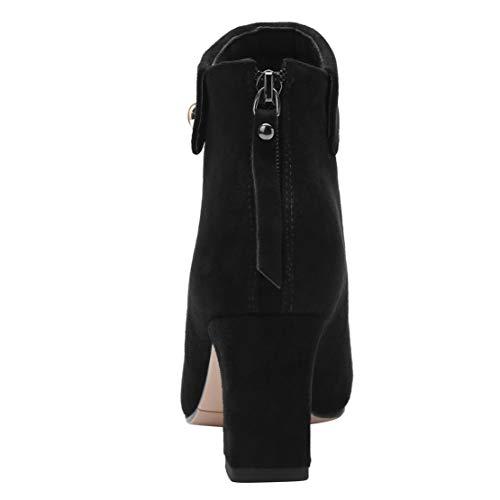 Stivali Stivali 35 Donna Classici Nero AIYOUMEI Argento EU 16xAqWn0dg