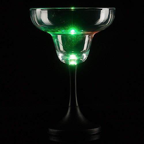 Fun Central P915 LED Margarita Glass Black Stem - 7 Ounce ()