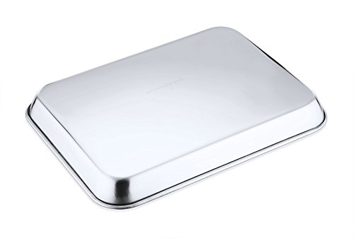 Toaster Oven Cookware Tray Pan Stainless Steel Broiler