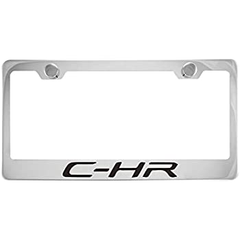Toyota C-HR Black License Plate Frame with Caps