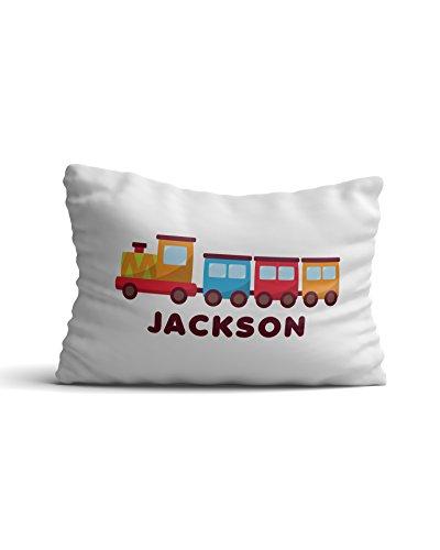 Desert Cactus Personalized Custom Kids' Pillowcase with Train Car Boys & Girls Pillow Case Bedroom