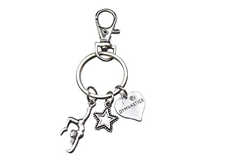 Infinity Collection Gymnastics Keychain- Gymnastics Zipper Pull, Girls Gymnastics Gift- Gymnastics Jewelry For Gymnast