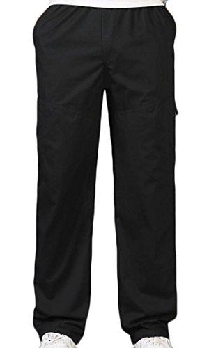 Dungarees amp;S Cotton amp;W Multi Black Men's Washed M Pants Cargo CaStwqwT