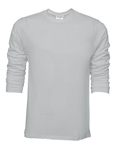 Girocollo Raftaar® A 100 Lunghe Grey Cotone Uomo Maniche Leggero Da Maglia qq4wCr5