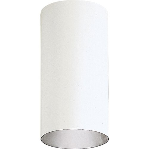 Progress Lighting P5741-30 6-Inch Flush Mount Cylinder with Heavy Duty Aluminum Construction Powder Coated Finish and UL Listed For Wet Locations, - Aluminum Cylinders Progress Outdoor