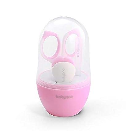 BabyOno Babypflege Baby Set Kind Pflege Set: Babyschere Nagelfeile 7327 Rosa Nagelclipser