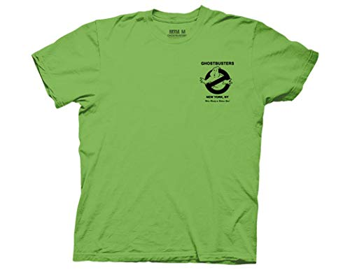 Ghostbusters Adults Unisex Electric Green T-shirt, S to XXl