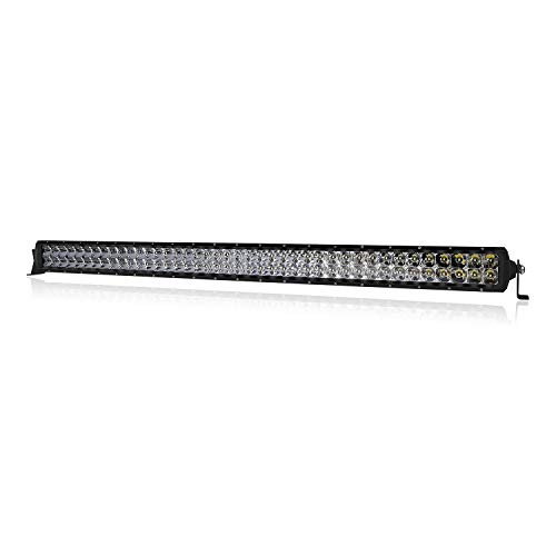 LED Light Bar 42 inch, 4WDKING IP68&IP69K Waterproof USA Design Premium LED Combo Off Road Work Light Truck Fog Lamp Mount on Front Bumper and Grille Fit for Ford F150 TOYOTA Tacoma JEEP Wrangler (Toyota Tacoma Fan Only Works On High)
