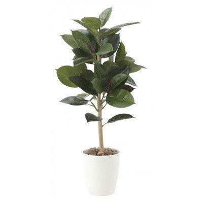 光触媒 人工観葉植物 光の楽園 ゴムの木90 614A100 B01IGBYDTS   幅40×奥行40×高さ90cm