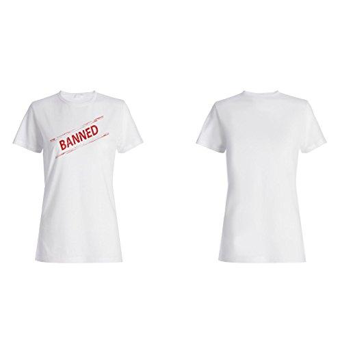 Verbotene lustige Briefmarkenweinlese Damen T-shirt f493f