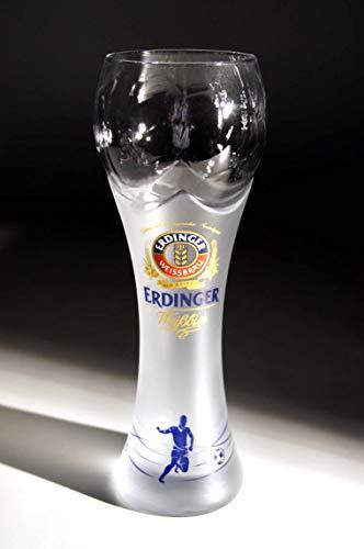 (Erdinger Football Cup German Beer Glass .5L Set of Two)
