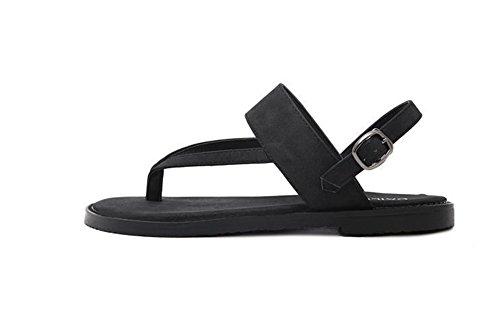 Sandalias Tamaño 35 40 Nvxie Pantuflas Gran Women's Y Mujer De Fashion Black Flat Joker Casual Zapatos Summer zwHAzq01