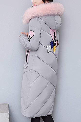 Libre Parker Manga Estepa Con Elegante Battercake Casual Calidad Moda Transición Gris Aire Alta Mujer Chimenea Winter Abrigo Parka Largo Espesar Piel Cálido Al Capucha qZSR4q1