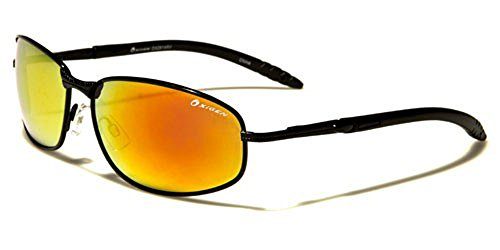 Oxigen - Lunettes de soleil - Homme multicolore Multicoloured Glossy black/black/orange mirror lens