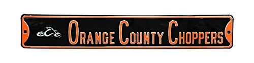 Authentic Street Signs County Choppers with Chopper Logo Steel Sign, Orange (Street County Sign)