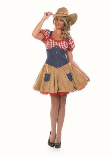 Dolly Parton Country Cowgirl Female Fancy Dress Costume - L (US 14-16)