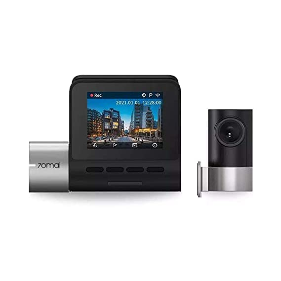 70mai Smart Dash Cam Pro, 2K+ 1944p QHD Recording, IMX335 Sensor, Built-in Wi-Fi, Emergency Recording, Voice & App