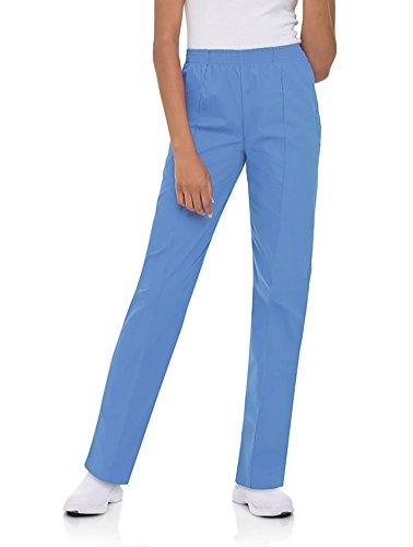 - Landau Scrubs Ladies Pull-On Scrub Pant Ceil Blue