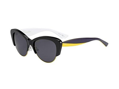 New Christian Dior unisex Sunglasses Black Gold Violet Yellow/Dark Gray