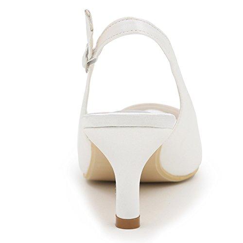 Pumps Hochzeit Plattform Low Elobaby Schuhe 6 Chunky Frauen cm Sandalen Court Satin Schuhe Heel Heel Heels 500gY