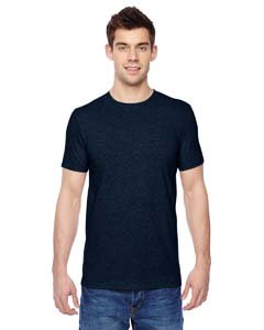 Fruit of the Loom Adult 4.7 oz. Sofspun« Jersey Crew T-Shirt-Indigo - Jersey Adult Polyester