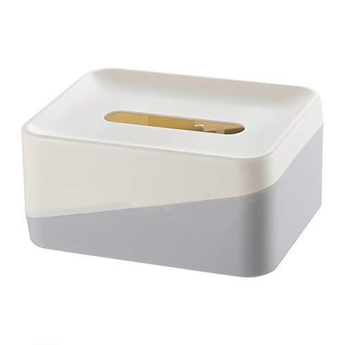 ZXY Caja Tapa Rectangular Tejido Facial Soporte dispensador del Tejido para Comedor, Cocina, Aparadores Dormitorio y...