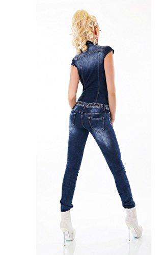 Foncé Bleu Jeans Noir Femme Skinny Triple Xxx aYxCq4