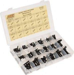 JumpingBolt 190 Piece Steel Socket Head Cap Screws #6-32 to 1/4-28 Thread Material May Have Surface Scratches