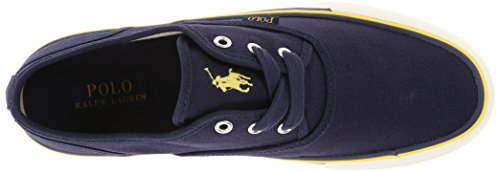 Polo Ralph Lauren Mens Morray Toile Fashion Sneaker Newport Marine Toile
