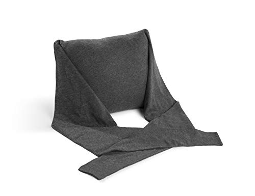 (40 Winks Travel Pillow Neck Pillow - Adjustable Cotton Jersey Straps for Head & Neck Support.)