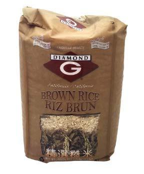 Diamond G - Bolsa de arroz marrón de 5 libras (paquete de 2 ...