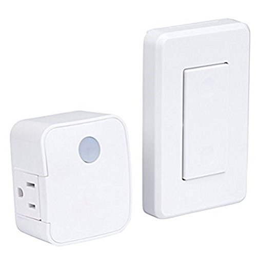 WESTEK Indoor Wireless Wall Outlet Switch with Remote Operation - Ideal for Lamps and Household Appliances - the Easy Way to Add a Switched Outlet - Signal Works Through Walls, Up To 100 Feet Away