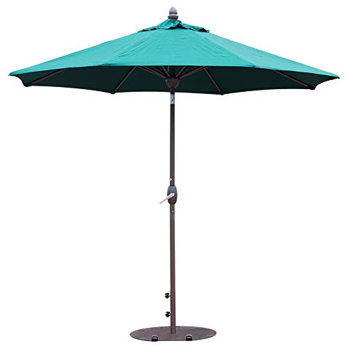 SORARA Sunbrella Patio Umbrella 9-Feet Outdoor Market Table Umbrella with Auto Tilt&Crank&Umbrella Cover