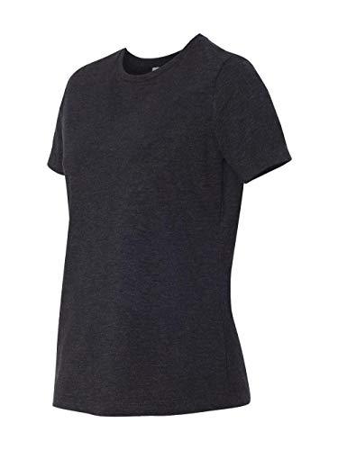 Bella womens Missy's Relaxed Jersey Short-Sleeve T-Shirt(B6400)-CHAR-BLK TRIBLND-2XL