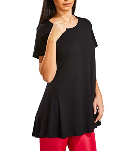 cb4ae24b179 WEST ZERO TWO Women`s Tunic Tops Short Sleeve Loose Fit Flared ...