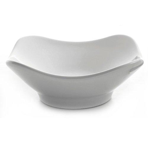 (Kraus KCV-135-CH Ceramic Above counter Square Bathroom Sink, 15.8 x 15.4 x 6 inches, Chrome)