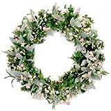 EG2I Easygifts2india White mixed flowers wreath