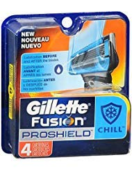 Gillette Fusion ProShield Chill Cartridges - 4 ct, Pack of 3