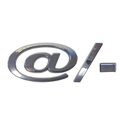 @ / - Car Chrome Badge Logo Lettering Badge Self Adhhesive