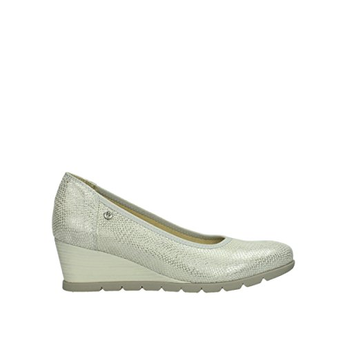 Off Silver Wolky 20120 White Leather Comfort Ocean Court Shoes Printed wXqIAq1S