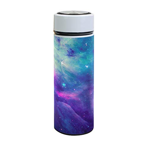 ZZKKO Space Galaxy Vacuum Insulated Stainless Steel Water Bottle, Galaxy Nebula Thermos Cup Water Bottle Travel Mug BPA Free Double Walled 17 OZ for Outdoor Sports Camping Hiking Cycling