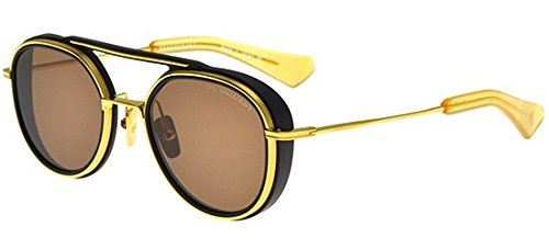 c6daa51af2 Image Unavailable. Image not available for. Color  Sunglasses Dita  SPACECRAFT 19017 A-BLK-GLD Matte Black-Yellow Gold ...