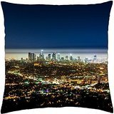 fantastic view of los angeles at night - Throw Pillow Cover Case (18