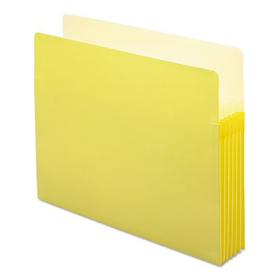 5 1/4 Inch Accordion Expansion Colored File Pocket, Straight Tab, Letter, Yellow, Total 50 EA, Sold as 1 Carton by Smead